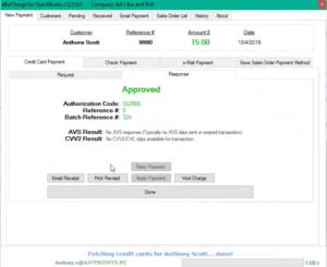 Alternative to QuickBooks Payments for QuickBooks Desktop Enterprise in action.