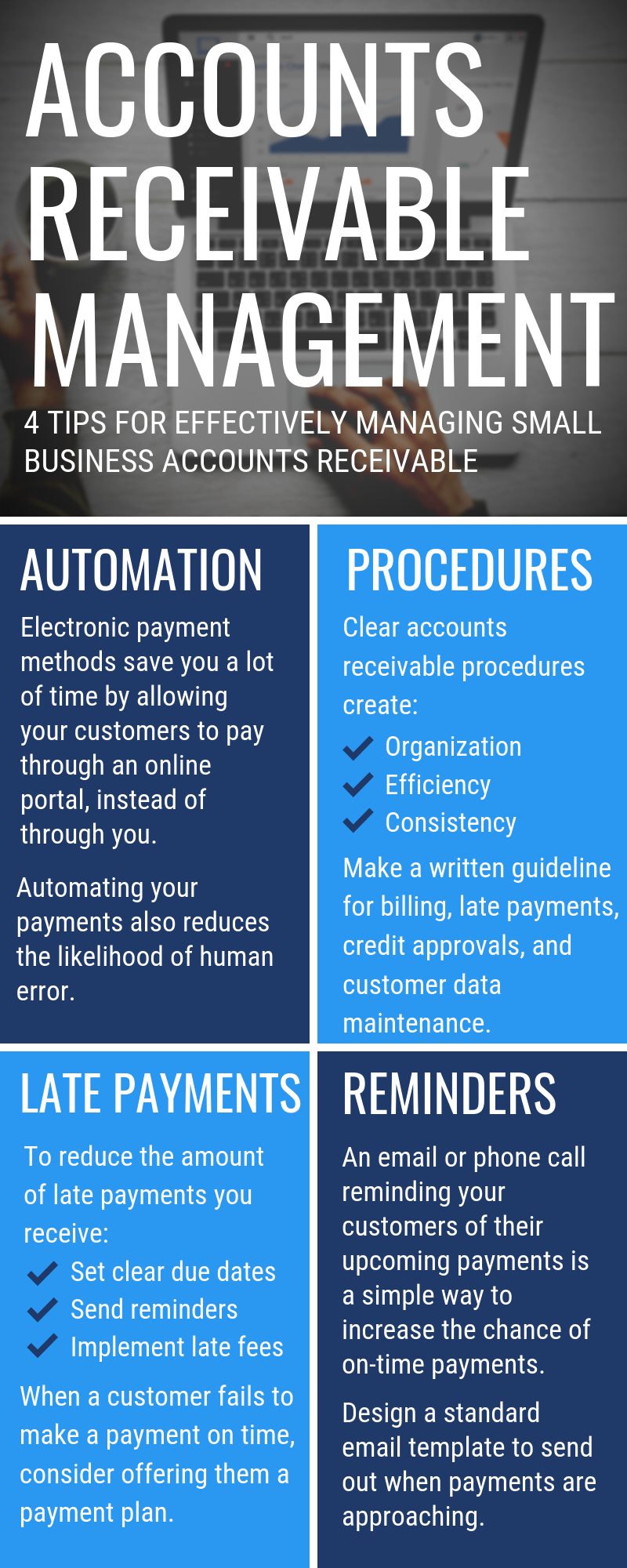 4 Tips for Effectively Managing Small Business Accounts Receivable